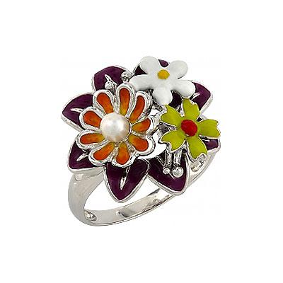 Серебряное кольцо  106190
