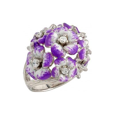 Серебряное кольцо  106237