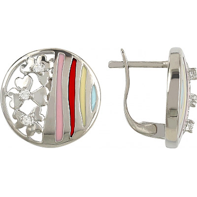 Серебряные серьги  106302