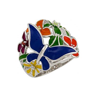 Серебряное кольцо  107324