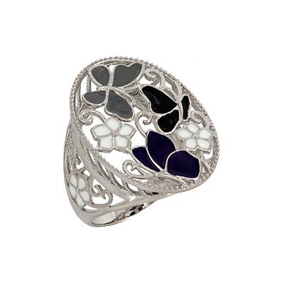 Серебряное кольцо  107329