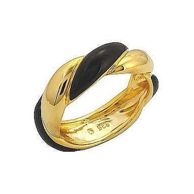 Кольцо с золотым покрытием без вставки. Серебро 875. - Серебряное кольцо  108329