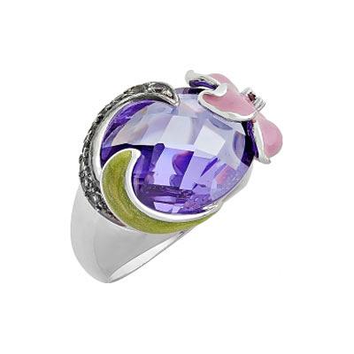 Серебряное кольцо 108576