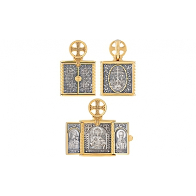Серебрянная икона  121197
