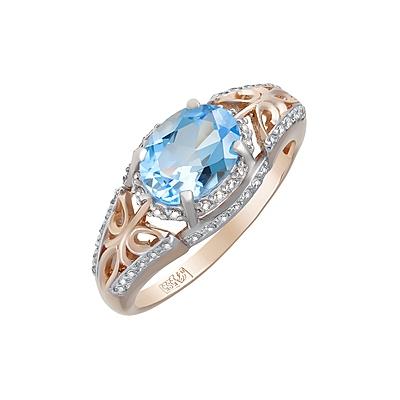 Золотое кольцо  Ювелирное изделие 124098