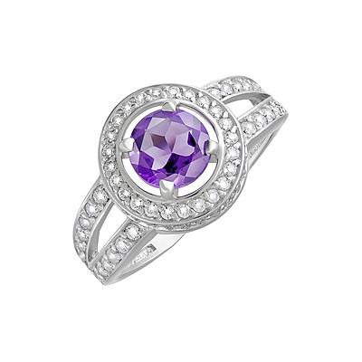 Серебряное кольцо  124634