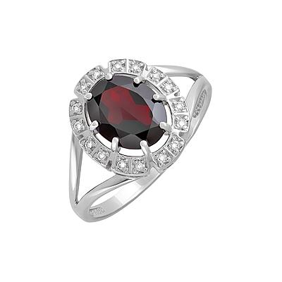 Серебряное кольцо  128032