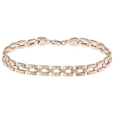 Купить Золотой браслет 134528, Браслет без камня с алмазкой. Красное золото 585. Вес 5, 793гр. ., Ювелирное изделие