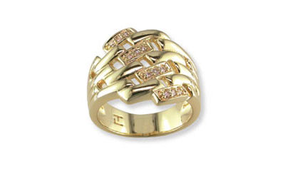 Купить Золотое кольцо 32448, Кольцо с фианитом, Золотое покрытие., Ювелирное изделие
