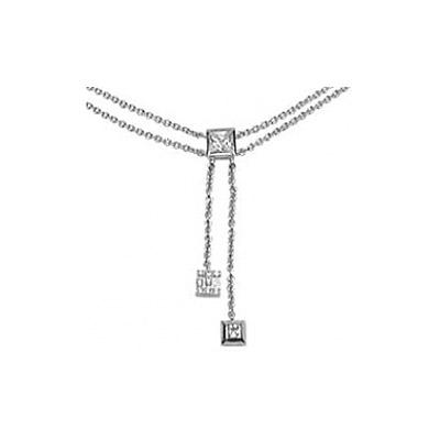 Серебряное колье  35025