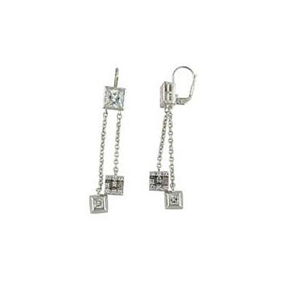 Серебряные серьги  35563