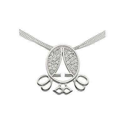 Серебряное колье  39062