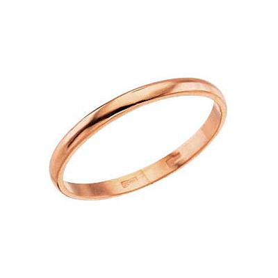 Купить Золотые серьги 6343, Кольцо обручальное Красное золото 585 пробы. Ширина 2 мм. Средний вес 1, 4 гр.., Ювелирное изделие