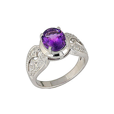 Серебряное кольцо  68413
