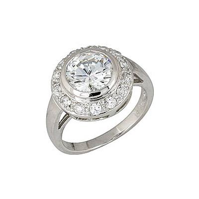 Серебряное кольцо  68423
