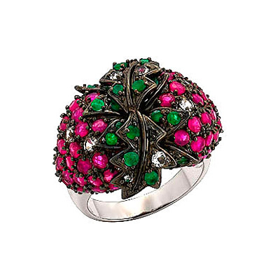 Серебряное кольцо  70777 от Bestwatch.ru