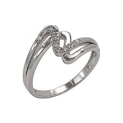 Купить Золотое кольцо 74549, Кольцо с Бриллиантом Белое золото 585 пробы. Вставки: 10 бриллиантов, огранка круг 17 граней, вес 0.08 карат, цвет 2, чистота 3., Ювелирное изделие
