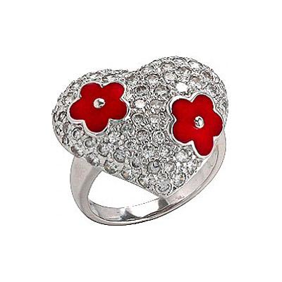 Серебряное кольцо  75136
