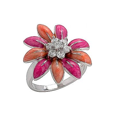 Серебряное кольцо  75138