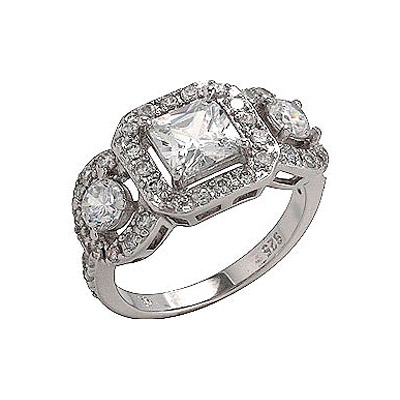 Серебряное кольцо  75180