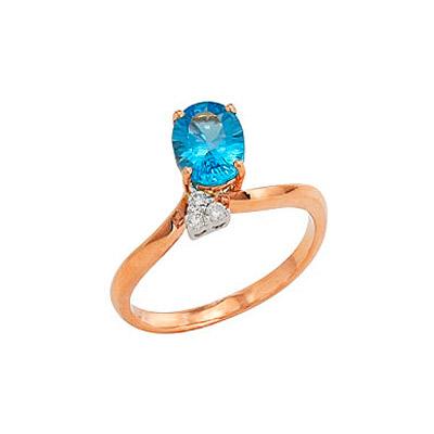 Золотое кольцо  Ювелирное изделие 80653