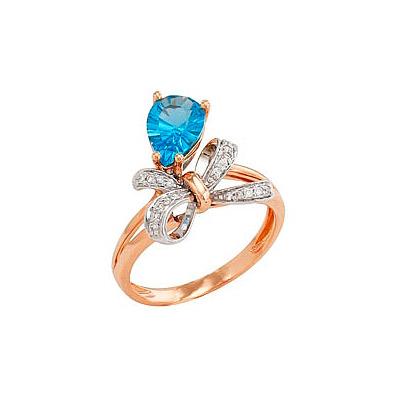 Золотое кольцо  Ювелирное изделие 82238