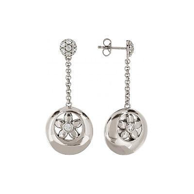 Серебряные серьги  82891
