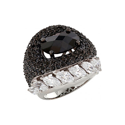 Купить Серебряное кольцо 83226, Кольцо с фианитом. 184 фианитов, вес 18.75 карат. Серебро 925., Ювелирное изделие