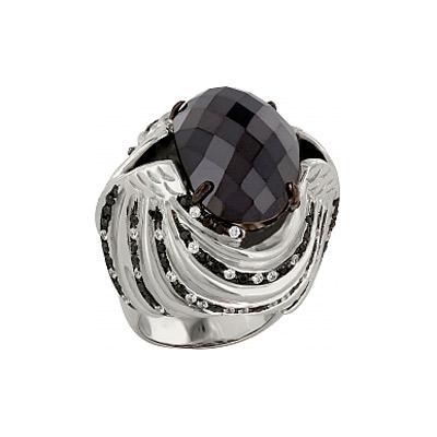 Купить Серебряное кольцо 83544, Кольцо с фианитом. Серебро 925. 90 фианитов, вес 65.55 карат, 57 фианитов, вес 2.85 карат., Ювелирное изделие