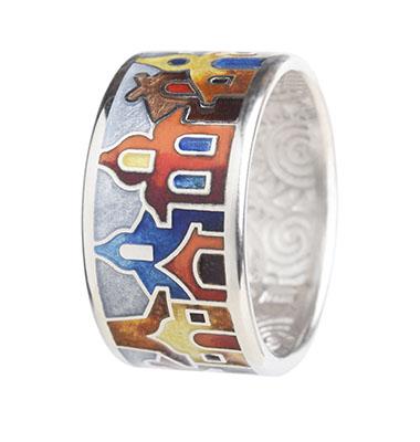 Серебряное кольцо  dr12