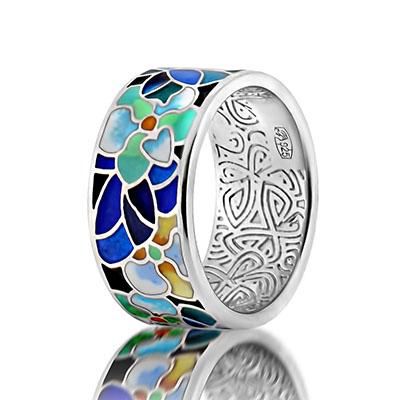 Серебряное кольцо  marmelad102r
