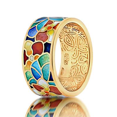 Серебряное кольцо  marmelad201r
