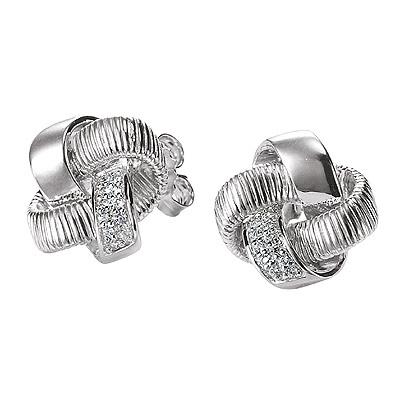Серебряные серьги  M0496E_90_03