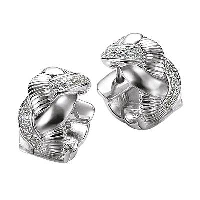 Серебряные серьги  M0497E_90_03