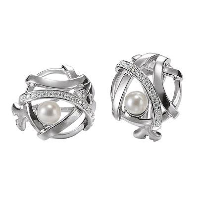 Серебряные серьги  M0520E_90_A4
