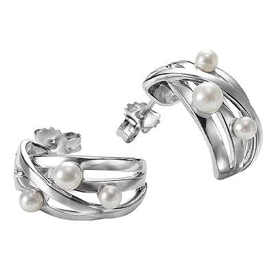 Серебряные серьги  M0522E_90_C0