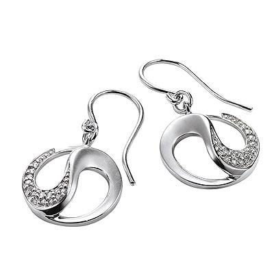 Серебряные серьги  M0526E_90_03