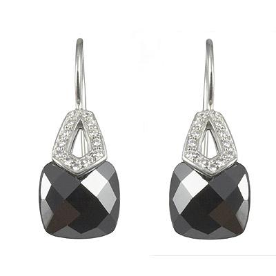 Серебряные серьги  M0534E_90_24