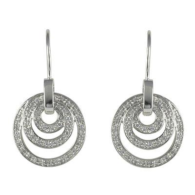 Серебряные серьги  M0585E_90_03