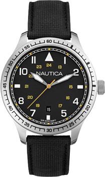 Швейцарские наручные  мужские часы Nautica A10097G. Коллекция Analog