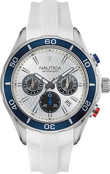 Швейцарские наручные  мужские часы Nautica NAD15520G. Коллекция Chrono