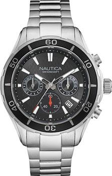 Швейцарские наручные мужские часы Nautica NAD18525G. Коллекция Chrono
