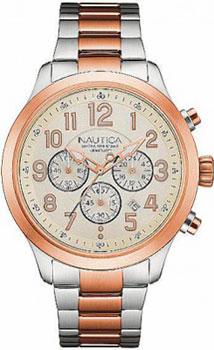Швейцарские наручные  мужские часы Nautica NAD18526G. Коллекция Chrono