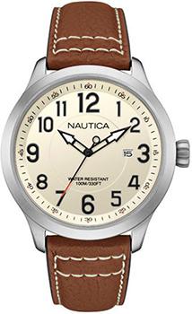 Швейцарские наручные  мужские часы Nautica NAI10005G. Коллекция Analog