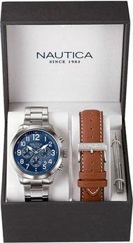 Швейцарские наручные  мужские часы Nautica NAI18509G. Коллекция Chrono