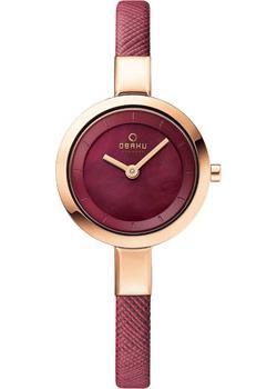 fashion наручные  женские часы Obaku V129LXVQRD. Коллекция Leather.