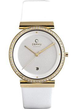 fashion наручные  женские часы Obaku V137UFGIRW. Коллекция Leather