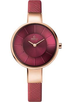 fashion наручные  женские часы Obaku V149LXVQRD. Коллекция Leather.