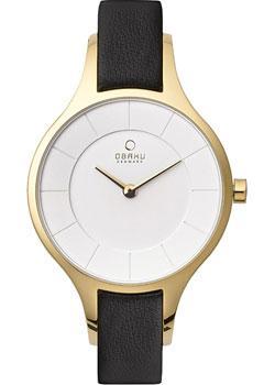 fashion наручные  женские часы Obaku V165LXGIRB. Коллекция Leather
