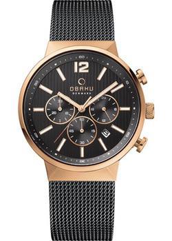 fashion наручные мужские часы Obaku V180GCVBMB. Коллекция Mesh